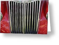1955 Red Mg Grille Greeting Card