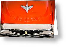 1955 Studebaker Champion Conestoga Custom Wagon Hood Ornament - Grille Emblem -0325c Greeting Card