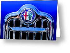 1956 Alfa Romeo Sprint Veloce Coupe Ultra Light Grille Emblem Greeting Card