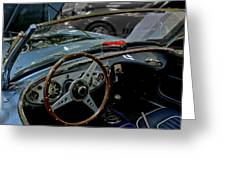 1956 Austin Healey Interior Greeting Card