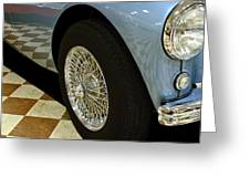 1956 Austin Healey Wheel Greeting Card
