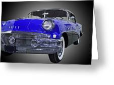 1956 Buick Special Riviera Coupe-blue Greeting Card