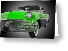 1956 Buick Special Riviera Coupe-green Greeting Card