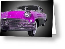 1956 Buick Special Riviera Coupe-purple Greeting Card