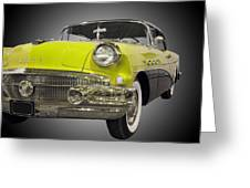 1956 Buick Special Riviera Coupe-yellow Greeting Card