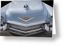 1956 Cadilac Sedan De Ville Smiling Greeting Card