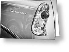1956 Chevrolet 210 2-door Handyman Wagon Taillight Emblem -074bw Greeting Card