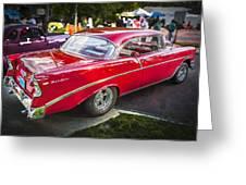 1956 Chevrolet Bel Air 210 Greeting Card