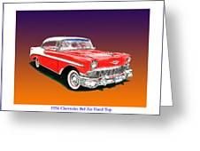 1956 Chevrolet Bel Air Ht Greeting Card