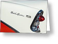 1956 Chevrolet Belair Coupe Taillight Greeting Card
