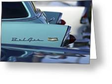 1956 Chevrolet Belair Nomad Rear End Greeting Card