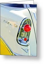 1956 Chevrolet Beliar Nomad Taillight Emblem Greeting Card