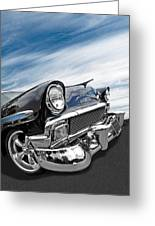 1956 Chevrolet With Blue Skies Greeting Card