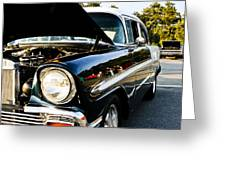 1956 Chevy Bel Air Down The Side Greeting Card