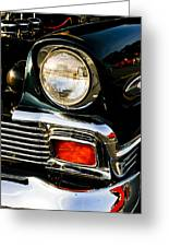 1956 Chevy Bel Air Head Light Greeting Card