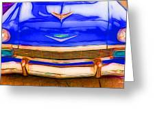 1956 Chevy - Blue Greeting Card