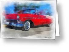 1956 Chevy Car Photo Art 01 Greeting Card