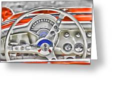 1956 Chevy Corvette Dash Wowc Greeting Card