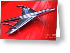 1956 Chevy Hood Ornament Greeting Card