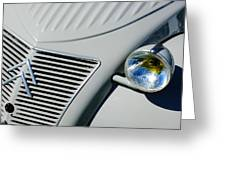 1956 Citroen 2cv Grille -0081c Greeting Card