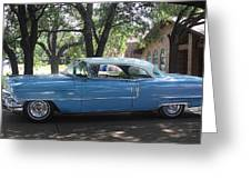 1956 Classic Cadillac Left View Greeting Card