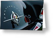 1956 Lincoln Continental Mark II Coupe Rear Emblem Greeting Card