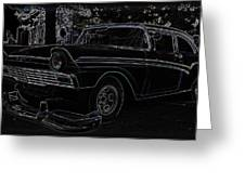 1956 Ford Neon Coupe Greeting Card