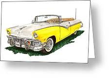Ford Sunliner Convertible Greeting Card