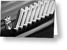 1956 Ford Thunderbird Emblem -278bw Greeting Card