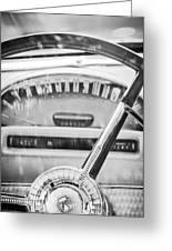 1956 Ford Thunderbird Steering Wheel -260bw Greeting Card
