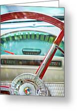 1956 Ford Thunderbird Steering Wheel -260c Greeting Card