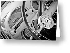 1956 Ford Thunderbird Steering Wheel -322bw Greeting Card