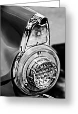 1956 Ford Thunderbird Taillight -247bw Greeting Card
