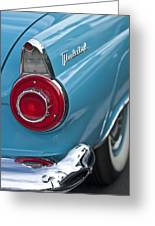 1956 Ford Thunderbird Taillight And Emblem Greeting Card