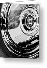 1956 Ford Thunderbird Wheel Emblem -232bw Greeting Card