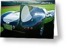 1956 Jaguar D-type Greeting Card