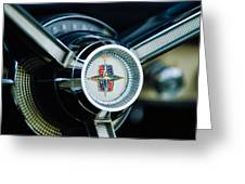 1956 Lincoln Continental Mark II Hess And Eisenhardt Convertible Steering Wheel Emblem Greeting Card