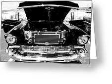 1956 Midnight Black Chevy Greeting Card