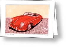 1956 Porsche 356 Cabriolet Greeting Card