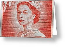1956 Queen Elizabeth New Zealand Stamp Greeting Card