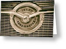 1956 Roadmaster Greeting Card
