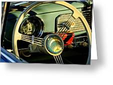 1956 Volkswagen Vw Bug Steering Wheel 2 Greeting Card by Jill Reger