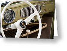 1956 Vw Convertible Steering Wheel Greeting Card