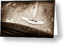 1957 Aston Martin Db2-4 Mkii Emblem Greeting Card