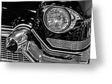 1957 Cadillac Coupe De Ville Headlight Greeting Card