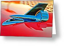 1957 Chevrolet Belair Hood Ornament Greeting Card
