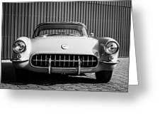 1957 Chevrolet Corvette -0010bw Greeting Card