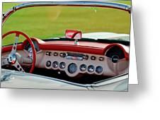 1957 Chevrolet Corvette Roadster Dashboard Greeting Card