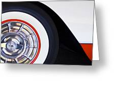 1957 Chevrolet Corvette Wheel Greeting Card
