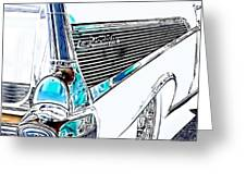 1957 Chevrolet Bel Air Art White Greeting Card